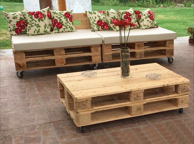 Terraza Pallet Europeo Reciclado Le Tomate Factorie